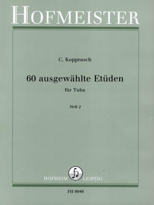 Georg Kopprasch - 60 Ausgewählte Etüden Heft 2 - Partition - di-arezzo.fr