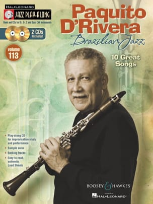Rivera Paquito D' - Jazz play-along Band 113 - Brasilianischer Jazz - 10 große Lieder - Noten - di-arezzo.de
