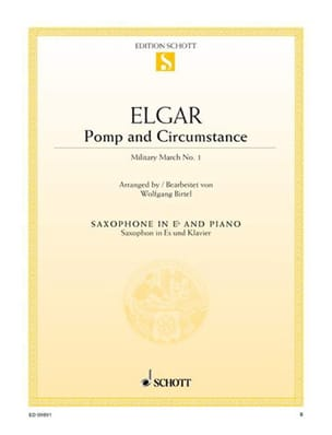 Sir Edward Elgar - Pomp and Circumstance - Military March N° 1, Opus 39/1 - Partition - di-arezzo.fr
