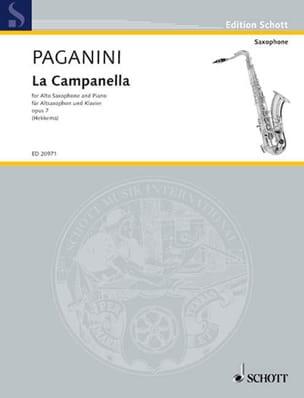 Niccolo Paganini - La Campanella Opus 7 - Partition - di-arezzo.fr