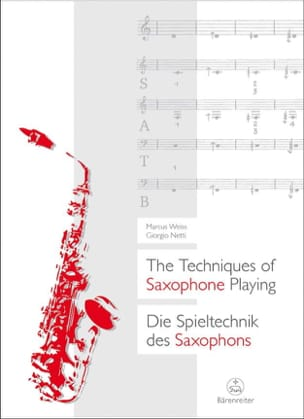 Weiss Marcus / Netti Giorgio - The Techniques of Saxophone Playing - Partition - di-arezzo.fr