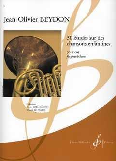 Jean-Olivier Beydon - 30 Etudes Sur des Chansons Enfantines - Partition - di-arezzo.fr