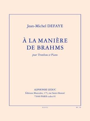 Jean-Michel Defaye - A la Manière de Brahms - Partition - di-arezzo.fr