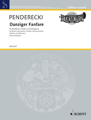 Krzysztof Penderecki - Danziger Fanfare - Partition - di-arezzo.fr