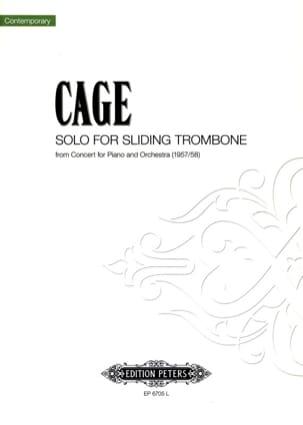 John Cage - Concerto pour Piano et Orchestre - Partition - di-arezzo.fr