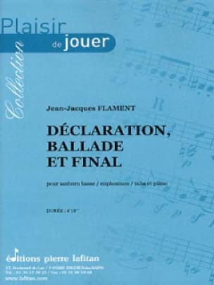 Jean-Jacques Flament - Déclaration, Ballade et Final - Partition - di-arezzo.fr