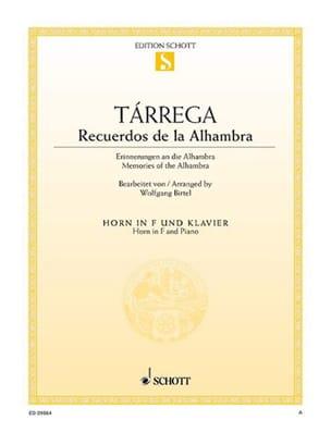 Recuerdos de la Alhambra - Francisco Tarrega - laflutedepan.com