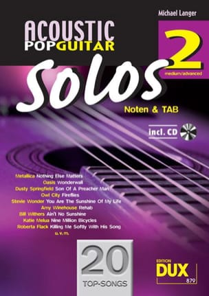 Acoustic Pop Guitar Solos - Volume 2 Partition laflutedepan