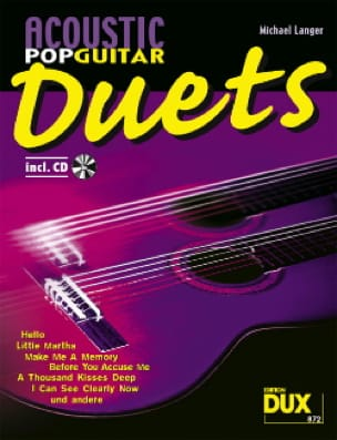 Acoustic pop guitar duets Partition Guitare - laflutedepan