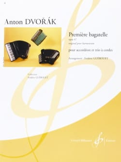 DVORAK - First Bagatelle Opus 47 - Sheet Music - di-arezzo.co.uk