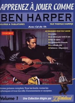 Hammje Thomas / Rébillard Jean-Jacques - Apprenez à jouer comme Ben Harper volume 1 - Partition - di-arezzo.fr