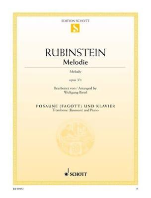 Mélodie Opus 3 N° 1 - Anton Rubinstein - Partition - laflutedepan.com
