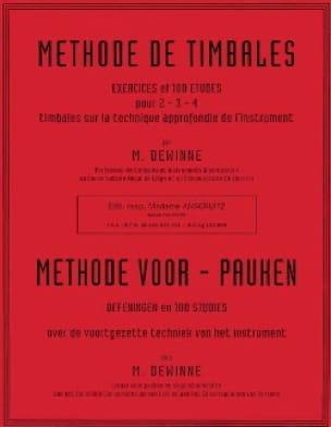 Méthode de Timbales Maurice Dewinne Partition Timbales - laflutedepan