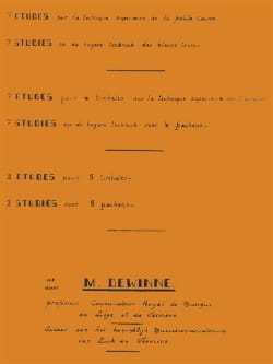 Maurice Dewinne - Studies on Superior Techniques - Sheet Music - di-arezzo.com