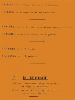 Maurice Dewinne - Etudes sur la Techniques Supérieure - Partition - di-arezzo.fr
