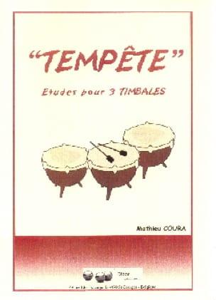 Tempête - Mathieu Coura - Partition - Timbales - laflutedepan.com