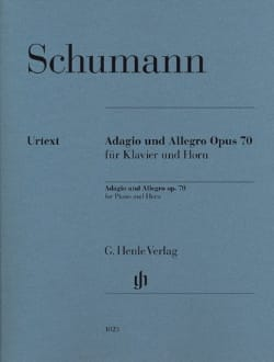 SCHUMANN - Adagio and Allegro Opus 70 - Urtext - Partition - di-arezzo.fr