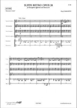 Guy Chavatte - Suite Rétro Opus 28 - Partition - di-arezzo.fr