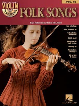 Violon Play-Along Volume 16 - Folk Songs - laflutedepan.com
