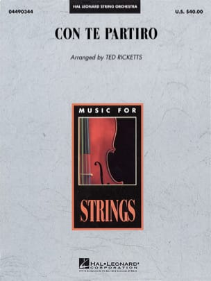 Con Te Partiro (Time To Say Goodbye) - Pop Specials for Strings laflutedepan