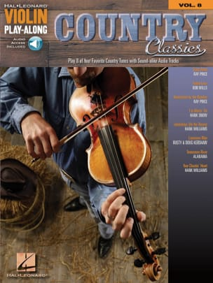 Violin Play-Along Volume 8 Country Classics Partition laflutedepan