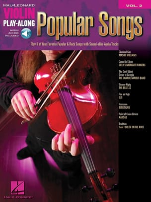 Violin play-along volume 2 - Popular Songs Partition laflutedepan