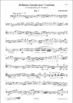 15 Etudes Atonales pour Trombone - Jérôme Naulais - laflutedepan.com