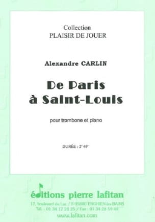 De paris à Saint-Louis Alexandre Carlin Partition laflutedepan