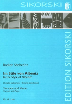 In the Style of Albeniz Rodion Shchedrin Partition laflutedepan