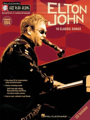 Elton John - Jazz play-along volume 104 - Partition - di-arezzo.fr
