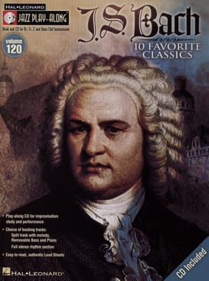 BACH - Jazz play-along volume 120 - J.S Bach - Partition - di-arezzo.fr