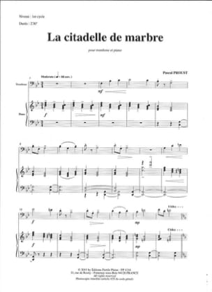 Pascal Proust - The marble citadel - Sheet Music - di-arezzo.co.uk