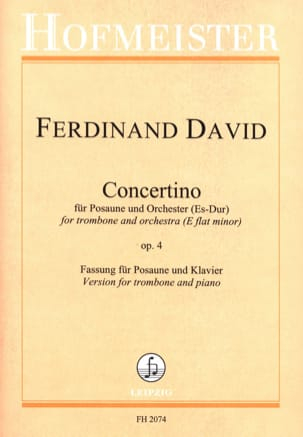 Ferdinand David - Concertino Es-Dur Opus 4 - Sheet Music - di-arezzo.co.uk