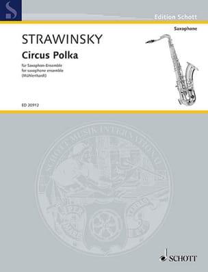 Circus Polka STRAVINSKY Partition Saxophone - laflutedepan