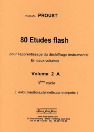 Pascal Proust - 80 Studies flash volume 2 A 3rd cycle - Sheet Music - di-arezzo.com