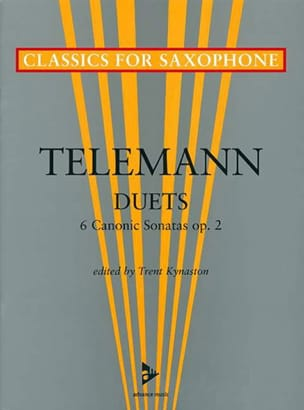 Duets - 6 Canonic sonatas opus 2 TELEMANN Partition laflutedepan