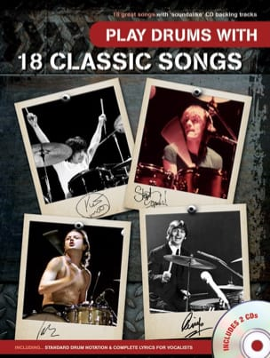 - Play Drums With 18 Classic Songs with 2 CDs - Sheet Music - di-arezzo.com