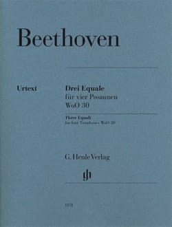Ludwig van Beethoven - Trois Equale pour 4 Trombones WoO 30 - Partition - di-arezzo.fr