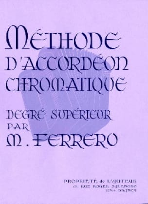 Médard Ferrero - Higher Degree Chromatic Accordion Method - Mauve - Partition - di-arezzo.com