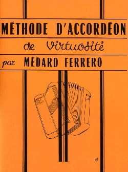 Méthode d'accordéon de virtuosité - Orange Médard Ferrero laflutedepan