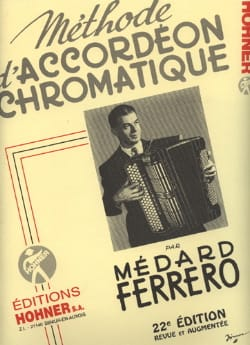Médard Ferrero - Méthode d'accordéon chromatique - Jaune - Partition - di-arezzo.fr