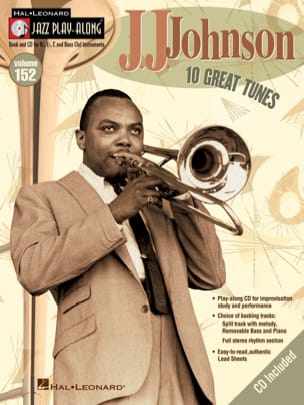 J.J. Johnson - Jazz play-along volume 152 - 10 Great Tunes - Partition - di-arezzo.fr