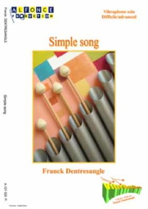Simple Song Franck Dentresangle Partition Vibraphone - laflutedepan