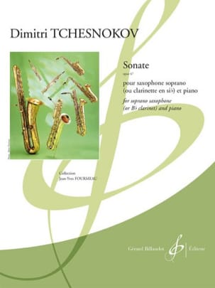 Sonate Opus 47 - Dimitri Tchesnokov - Partition - laflutedepan.com