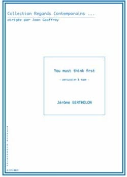 Jérôme Bertholon - You Must Think First - Sheet Music - di-arezzo.co.uk