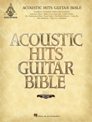 - Acoustic Hits Guitar Bible - Partition - di-arezzo.fr