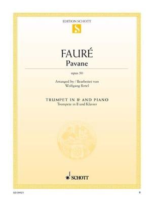Pavane opus 50 Gabriel Fauré Partition Trompette - laflutedepan