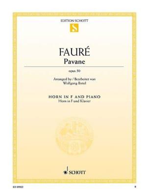 Pavane opus 50 - Gabriel Fauré - Partition - Cor - laflutedepan.com