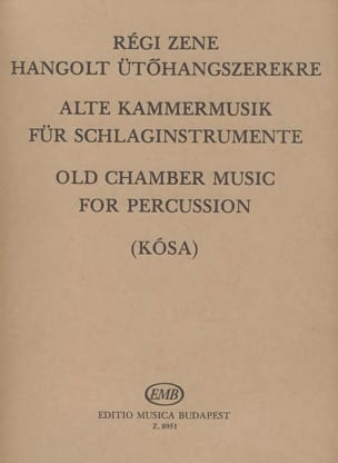 Old chamber music for percussion Partition laflutedepan
