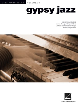 Jazz piano solos volume 20 - Gypsy jazz Partition laflutedepan